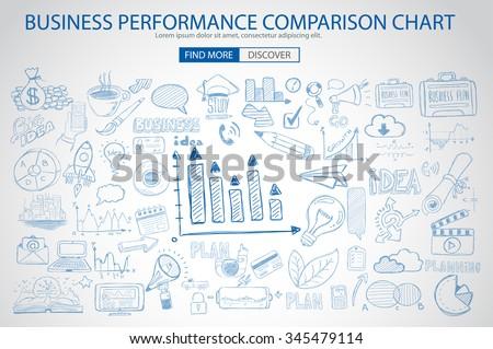 бизнеса исполнении сравнение диаграммы болван дизайна Сток-фото © DavidArts