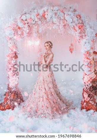 Blond nymph wearing a white wreath Stock photo © majdansky