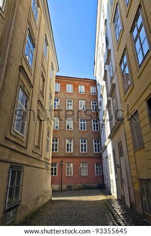 Tipik eski evler Viyana ilk bölge Stok fotoğraf © meinzahn