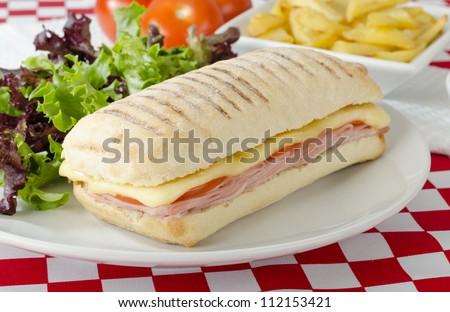 гриль · Бутерброды · ветчиной · сыра · Top - Сток-фото © vlad_star