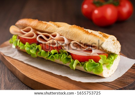 Rebanada jamón ensalada carne almuerzo Foto stock © M-studio