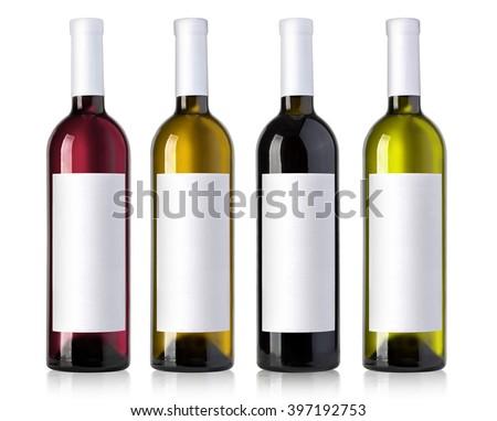 Rózsa borosüveg izolált fehér valósághű vektor Stock fotó © kurkalukas