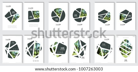 minimal brochure template layout cover design in A4 size with wi Stock photo © SArts