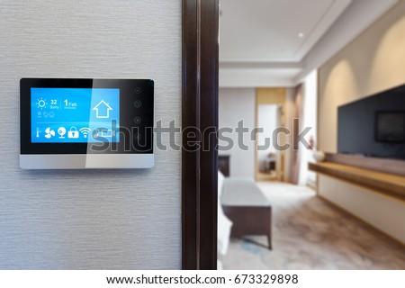 otthon · automatizálás · app · interfész · digitális · kompozit · égbolt - stock fotó © wavebreak_media
