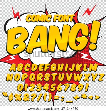 Comic colorful alphabet. Vector set. Comic text. Comics book sty Stock photo © pashabo