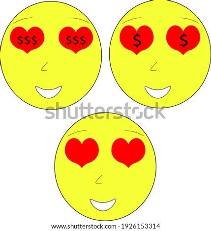 幸せ 赤 中心 漫画 顔 文字 ストックフォト © hittoon