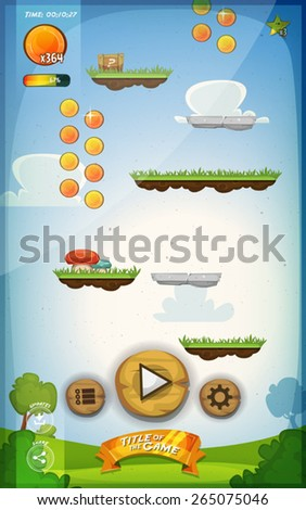 Jumping Game Template On The Sky Stock photo © benchart