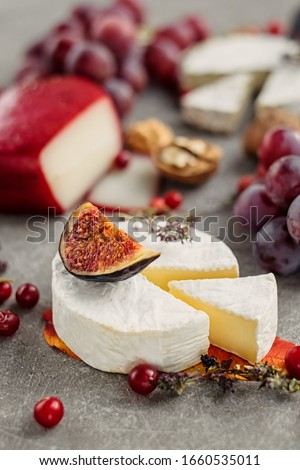 cheese platter and fruit Stock photo © cynoclub