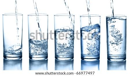 Butelki woda mineralna szkła lodu zielone Zdjęcia stock © DenisMArt