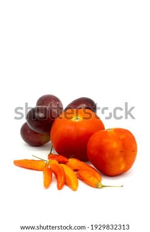 Vers wijnstok tomaten chili shot Stockfoto © dash