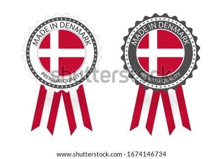 Photo stock: Modernes · vecteur · Danemark · étiquette · isolé · blanche