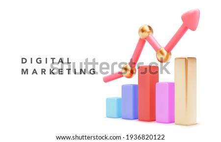3D · graphique · diagramme · affaires · présentation · réaliste - photo stock © linetale