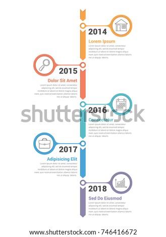 Pionowy timeline infografiki szablon workflow proces Zdjęcia stock © kyryloff