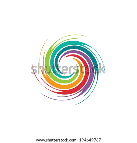 abstract colorful spiral tornado vector icon background element stock photo © blaskorizov
