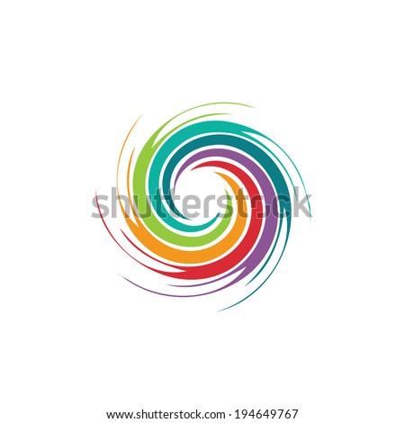 Soyut renkli spiral kasırga vektör ikon Stok fotoğraf © blaskorizov