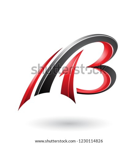 Red and Black Flying Dynamic 3d Letters A and B Vector Illustrat Stock photo © cidepix