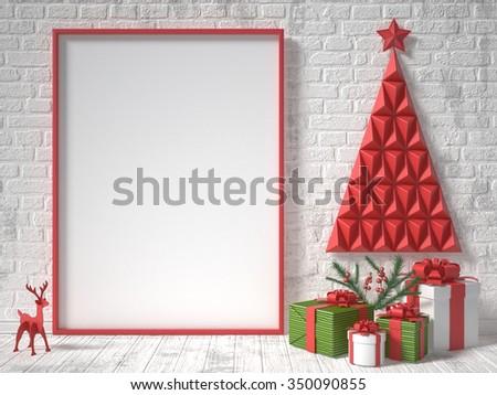 Quadro de imagem natal decoração presentes fita arcos Foto stock © djmilic