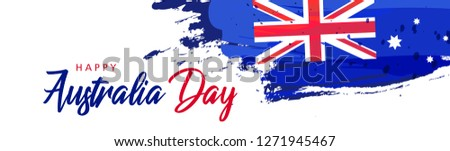 Australia Day. Banner for Australia National Day with Australia National Flag and lettering, vector  Stock photo © ikopylov