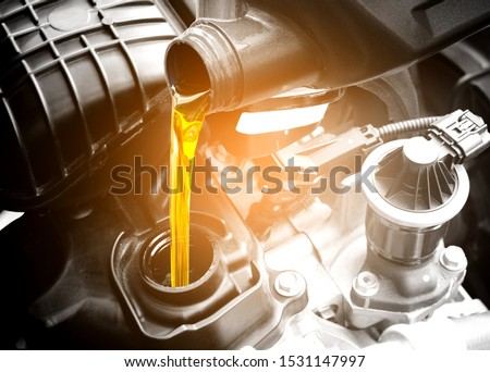 checking vehicle engine at the garage industrial concept, Hands  Stock photo © snowing