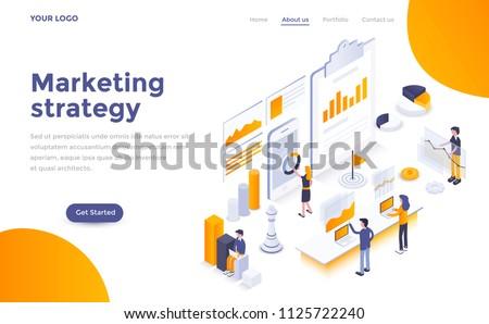 Digital marketing - modern flat design style colorful illustration Stock photo © Decorwithme