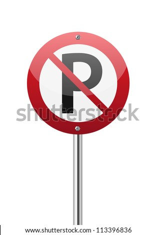 car and sign forbidden on white background isolated 3d illustra stock photo © iserg