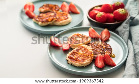 Portion of ricotta fritters Stock photo © Alex9500