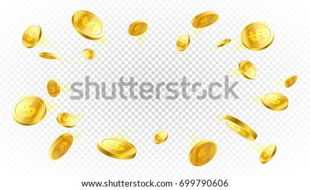 деньги Золотые монеты казино наличных куш плакат Сток-фото © Winner