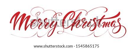 Alegre natal escove letra isolado branco Foto stock © MarySan