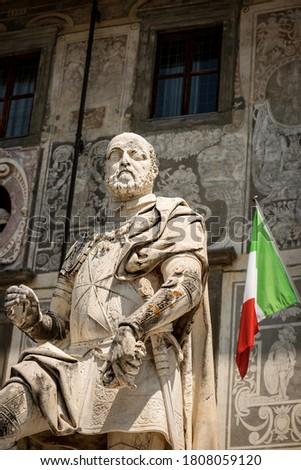 Standbeeld Italië vierkante man kunst reizen Stockfoto © borisb17