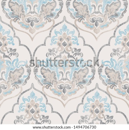 Baroque ornament Vector. Luxury watercolor trendy texture. Vintage retro old styles Stock photo © frimufilms