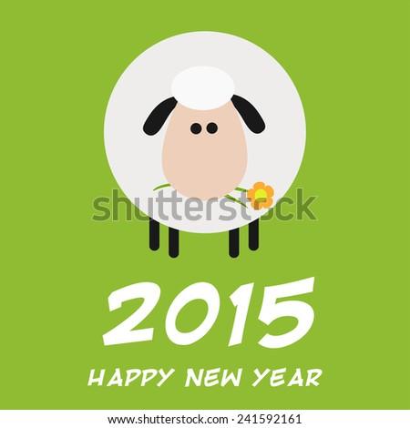 Aranyos fehér birka terv új év kártya Stock fotó © hittoon