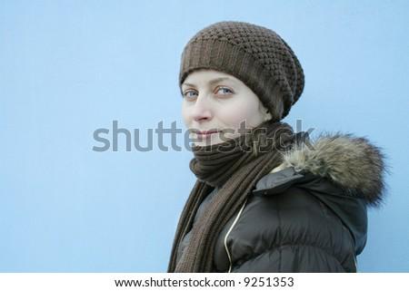 Natal retrato menina modelo oriental Foto stock © ElenaBatkova