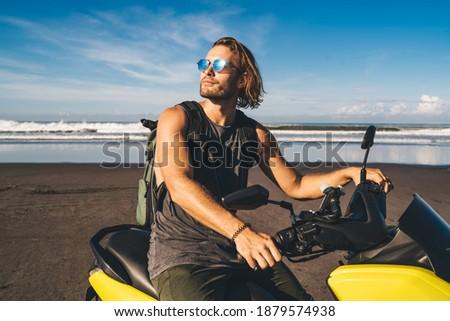 Masculino motocicleta próprio transporte Foto stock © vkstudio