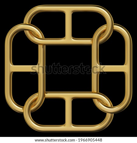 Celtic Knot - Single Chain - Loops Stock photo © nazlisart