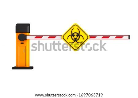 Gesloten automatisch symbool witte geïsoleerd Stockfoto © ISerg