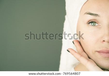Anti-age beauty face moisturizer cream for sensitive skin, luxur Stock photo © Anneleven