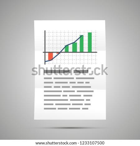 Financiële statistisch kleurrijk grafiek maat document Stockfoto © evgeny89