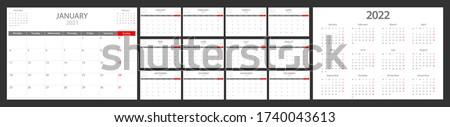 Kalender jaar week vel donkere zwarte Stockfoto © evgeny89