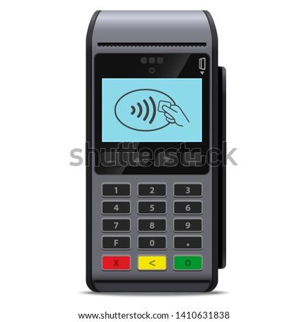 Realistico pagamento di debito carta di credito bianco isolato Foto d'archivio © evgeny89