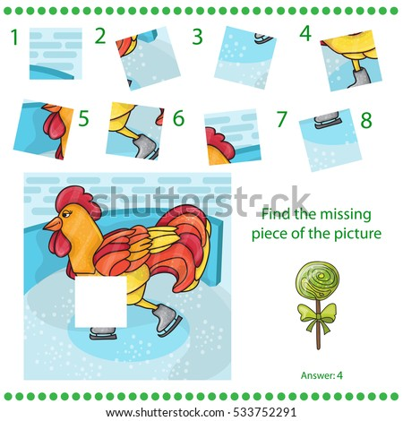 Kirakó darabok puzzle játék gyerekek kakas madár Stock fotó © natali_brill