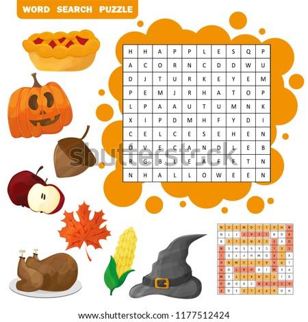Tanul angol ősz szó játék gyerekek Stock fotó © natali_brill