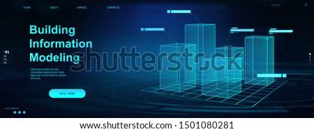 Building information modeling abstract concept vector illustration. Stock photo © RAStudio