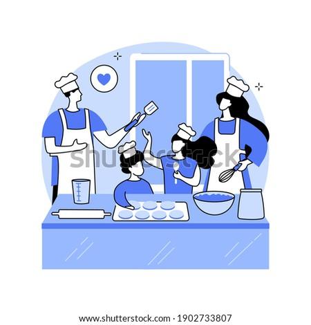Bake together abstract concept vector illustration. Stock photo © RAStudio