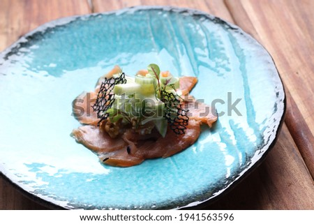 Lox with fresh and marinated vegetables Stock photo © fotogal
