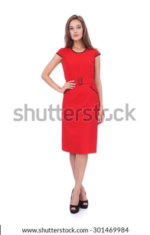 stijlvol · vrouw · latex · jurk - stockfoto © victoria_andreas