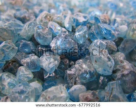 Stock photo: beautiful gemstones in the mine