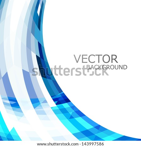 Technology blue colorful stylish wave background vector illustra Stock photo © bharat