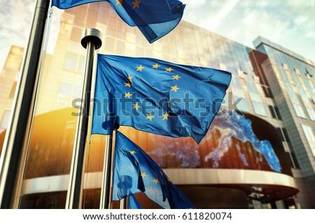 Euro symbol europejski centralny banku Frankfurt Zdjęcia stock © meinzahn