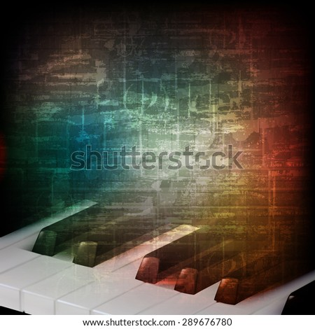 abstract grunge piano background with saxophone foto stock © lem