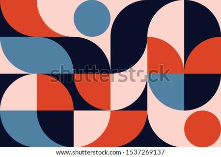 ストックフォト: パターン · 幾何学的な · カラフル · モザイク · レトロな